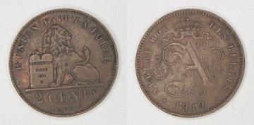 32331 Belgicko, 2 centy, 1919
