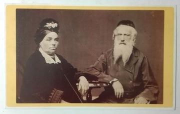 Pohľadnica Židia Staré manželstvo Krieger 1860 SPK