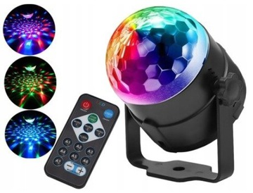 Disco Kula Projektor RGB Disco Reflektor