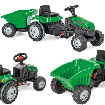 Šliapací traktorový príves Veľký MAX xl zelený