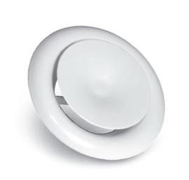 Prívodný difúzor z bieleho kovu 125 mm + RÁM