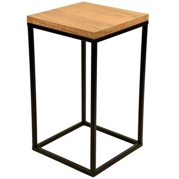 Kvetinový stojaci kovový podkrovný stôl dubový top