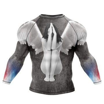 MMA tričko pre boj, druhú kožu, antibakteriálne