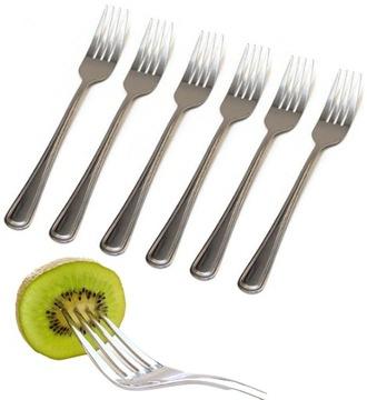 Príbory Fork Kuchynské vidličky SET 6 ks