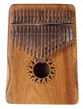 Drevené CALMIMBA Prenosné Piano 17 Kľúče