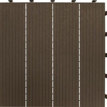 EXTRÉMNA silná škridla 45x45 cm, terasa, hnedá