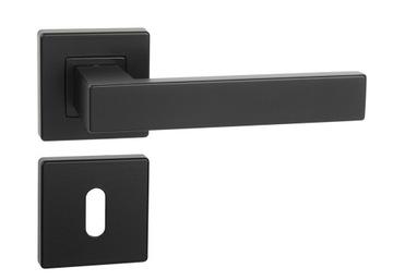čierna ERGO rukoväť VELVET + rozety na kľúč