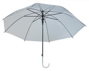 Dáždnik Transparentná biela pre svadbu