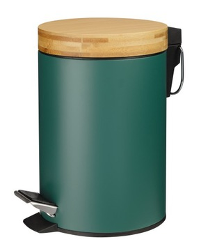 Kúpeľňa Košík 3L Metal Bamboo Zelená