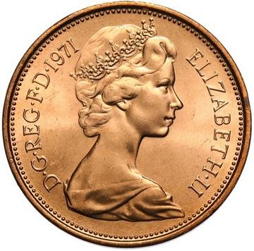 Anglicko Elżbieta II - 2 peny nový pence 1971 - unc
