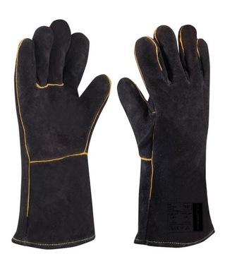 Grilované rukavice a 100c kožené krb R.10