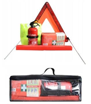 TRIANGLE CAR KIT PRVÁ SÚPRAVA BAG BAG hasiaci prístroj
