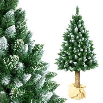 Vianočný strom umelý borovica na diamantovom kufri 180 cm