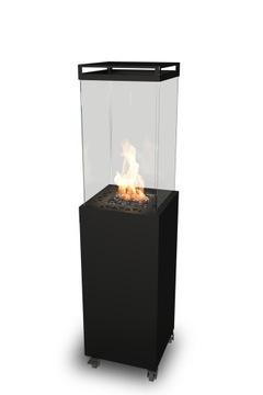 Maják - čierny záhradný plynový ohrievač