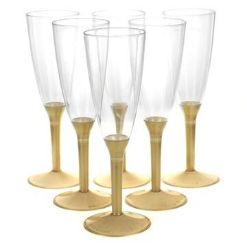 Jednorazové poháre na šampanské, 6 ks NOVÝ ROK