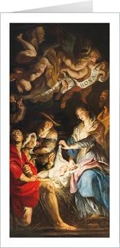 Vianočné pohľadnice s posvätným textom LR806