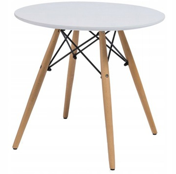 Stôl MDF Konferenčný stolík škandinávsky 60 cm okrúhly