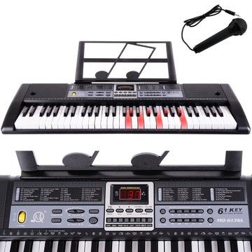 Veľká klávesnica Piano Piano 61 + mikrofón