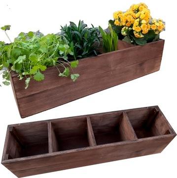 Drevené box Herbs Kvety Pot Garden Mom