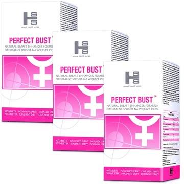 3x perfektné bustové tablety prsníka zväčšenie bustov