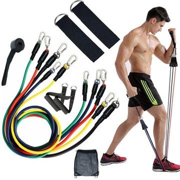 Sada 5 rezistencie na odolnosť gumy pre cvičenie