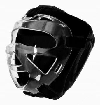 Tréningová boxová prilba s evolúciou koženou maskou