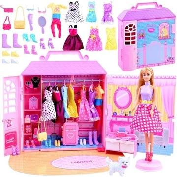 Anlily Doll + domček WARDROBE s oblečením akce ZA2228