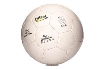 Futbal Indoor Futsal Biela veľkosť 5