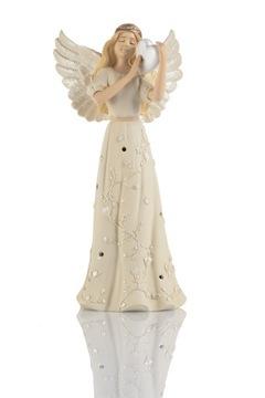 Anjel | figúrka | srdce | LED | svadba | darček | Bianco