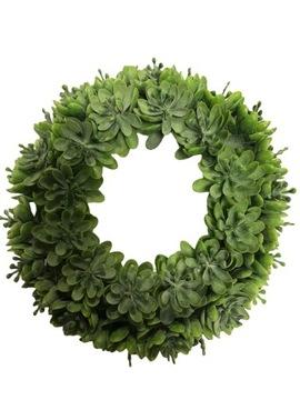 Dekoratívny veniec dekoratívne zelená čelenka 19 cm