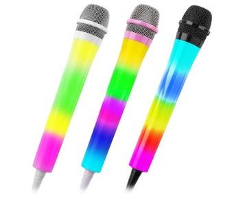 Dynamic LED Karaoke Mikrofón 3 Farby / vybrať si z