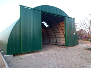 Arched Hall Steel Warehouse New