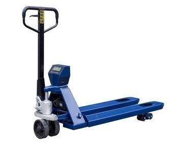 Paletový paletový vozík s manuálnou skladovacou stupnicou
