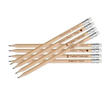 Drevené ceruzky s logom logo Oddanosť 100 ks