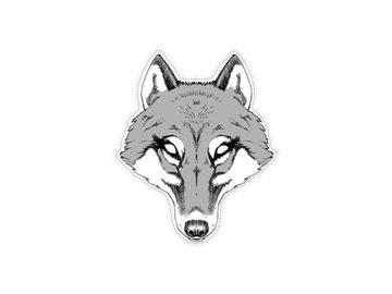 WOLF MASK WOLF WOLF PAPER 1 ks