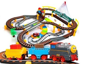 Obrovský pretekárska dráha + vlakový vlak