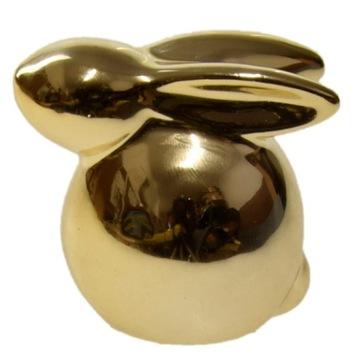 Králik Bunny Golden keramické zrkadlo