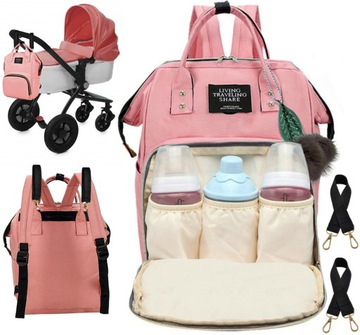 Organizér na batoh na vozík pre mamu a otca 3v1