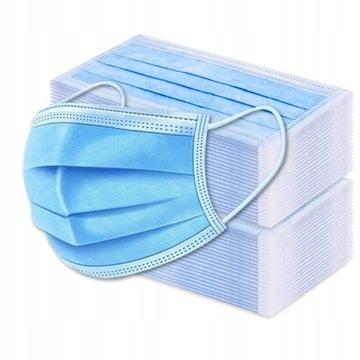 Jednorazové chirurgické masky 3W 100 kusov