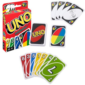 MATTEL GAME CARS UNO PUZZLE CARD W2085