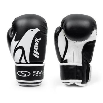 Boxerské rukavice SMJ Hawk Black 8 Oz