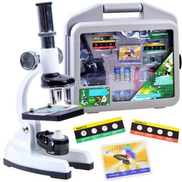 Sada kovového mikroskopu mladého vedca ES0024
