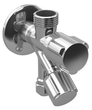 Uholový ventil kombinovaný 1 / 2x3 / 4x3 / 8 dvojitý