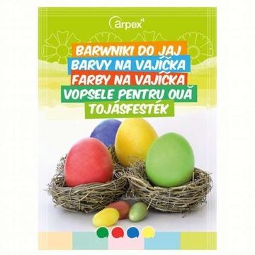 Farbivá pre vajcia s obalmi 4 Veľkonočné farby