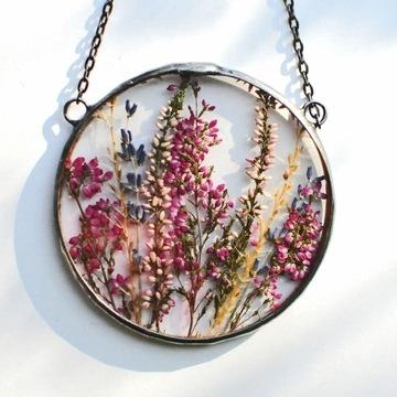 Sušené kvety, dekor terária, prívesok Mariaela