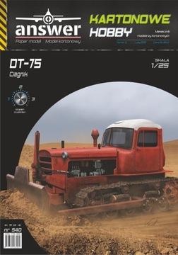 Pásový traktor DT-75, odpoveď, 1:25 Nové
