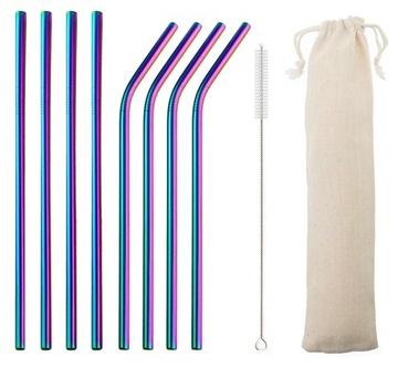 Sada slamených pásov. Stávky. Rainbow trubice. 8ks