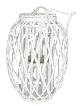 Prútený Lantern Lantern 60 cm biela dekorácia