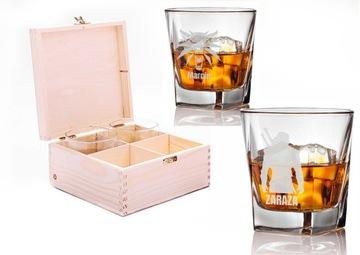 4 x sklo pre whisky v krabici Witcher Engrafer