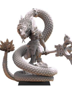 Tonatihuh, Coatl Whisperer - stratené kráľovstvo - 3D tlač